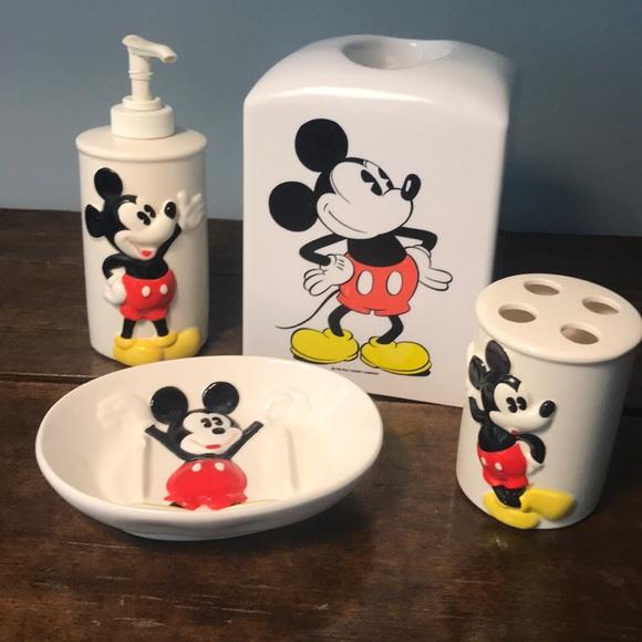 Disney Bath 4piece Mickey Mouse Bathroom Set Poshmark